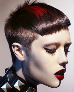 SHORT HAIR | RED  VISIT US FOR #HAIRSTYLES, ADVICE AND INSPIRATION WWW.UKHAIRDRESSERS.COM   ark Leeson - short black straight hair styles (20798)