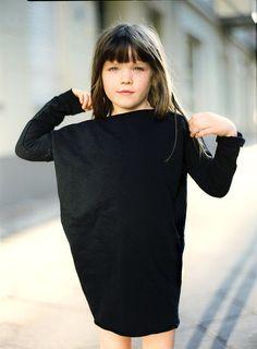 Oversized girl dress everyday girl  dress grey by patkas on Etsy
