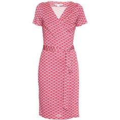 Diane Von Furstenberg New Julian Two dress (43120 RSD) ❤ liked on Polyvore featuring dresses, wrap front dress, pink dress, palm print dress, diane von furstenberg dresses and diane von furstenberg