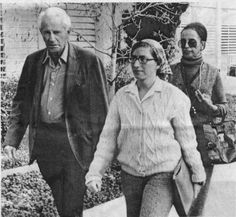 "Moral Support: ""One Dimensional Man"" author Herbert Marcuse accompanies Bettina Aptheker, center, and Angela Davis' mother, Sallye Davis, to Angela Davis' 1972 trial in San Jose. Associated Press"