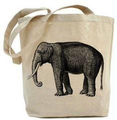 Elephant - Eco Friendly tote - Canvas Tote Bag