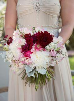 1920s Wedding Bouquets | 1920s Vintage Glam Wedding Inspiration #wedding #vintage #bouquet # ...