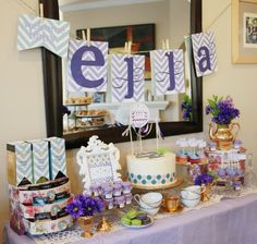 Adorable ! Sweet Pea Theme and Tea Party - Baby Shower Blog - Annie Vovan