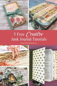 Junk journals are a fun and creative way to make unique handmade books using a combination of different types of papers such as recycled papers, scrapbook Handmade Journals, Handmade Books, Handmade Crafts, Handmade Rugs, Handmade Notebook, Scrapbook Journal, Scrapbook Paper, Scrapbooking, Junk Journal