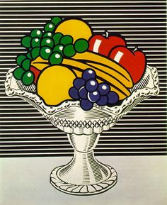Roy Lichtenstein Still Life with Crystal Bowl art painting for sale; Shop your favorite Roy Lichtenstein Still Life with Crystal Bowl painting on canvas or frame at discount price. Roy Lichtenstein Pop Art, Art Pop, Pop Art Food, Andy Warhol, Fiesta Pop Art, Pop Art Essen, Museum Ludwig, Pop Art Party, Oil Canvas