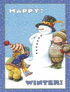 Mary Engelbreit by esmeralda Mais Mary Engelbreit, Winter Fun, Winter Time, Winter Walk, Winter Snow, Christmas Time, Christmas Crafts, Xmas, Christmas Sayings
