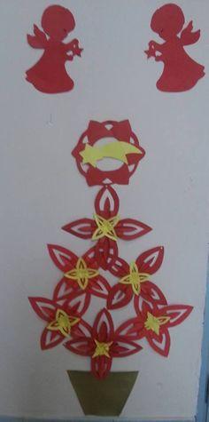 Albero con stelle  https://126maestramaria.files.wordpress.com/2014/11/stella-di-natale-schema.pdf  in sezione lavoretti di Natale