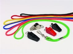 A safety neck lanyard that releases with tension.  6-wrap thickness   Color: Red