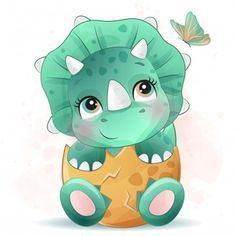 Boat Cartoon, Deer Cartoon, Cute Cartoon, Dinosaur Play, Cute Dinosaur, Dinosaur Birthday, Unicorn Illustration, Butterfly Illustration, Watercolor Illustration