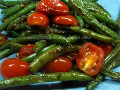 Green Beans with Cherry Tomatoes #recipe