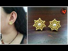 How To Make Designer Pearl Earrings At Home | DIY | Jewelry Making | Crafts | Uppunuti Home - YouTube