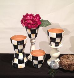 HOW TO PAINT black & white checks on terracotta pots - Google Search