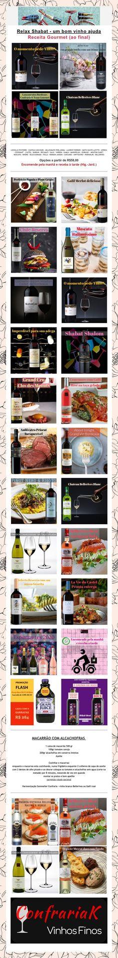 Relax Shabat - um bom vinho ajuda  Receita Gourmet (ao final) Mouton Cadet, Laurent Perrier, Nice, Recipes