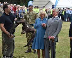 The Prince of Wales and Camilla, Duchess of Cornwall, paid a visit to the The 134th Sandringham Flower Show at  Sandringham Estate Norfolk where they met Zephyr the 4-year-old Bald Eagle