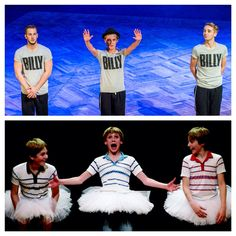 The first Billys from Billy Elliot The Musical, reunited for the special below, during the musical's Opening Night (May From the left: James Lomas, George Maguire and Liam Mower Billy Elliot, Theatre Reviews, Drama Class, Broken Leg, Opening Night, Musical Theatre, Beauty And The Beast, Famous People, Positive Quotes