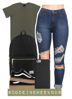 """""""5/14/16"""" by codeineweeknds ❤ liked on Polyvore featuring October's Very Own, Herschel Supply Co. and Agent 18"""