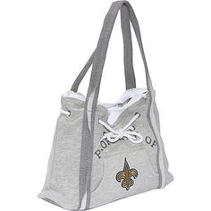 Littlearth NFL Hoodie Purse Grey/New Orleans Saints