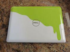 DELL Inspiron Mini Netbook Laptop Nickelodeon Slime Green/White Edition