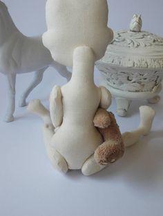 Bambola in bianco per il crafting dimensione 13 '  a mano