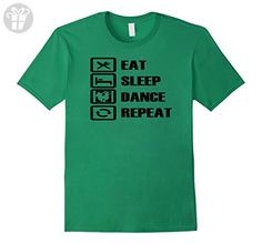 Men's Eat Sleep Dance Repeat Funny Silly T Shirt Medium Kelly Green (*Amazon Partner-Link)