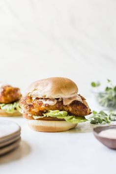Spicy Cod Sandwich // The Almond Eater