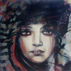"Saatchi Art Artist Suhair Sibai; Painting, ""Damascus Queen - #7"" #art"