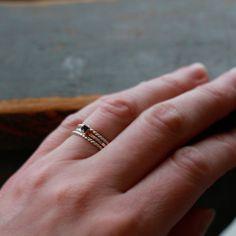 Stapelen ringen Set van drie ringen Gemstone door ShopClementine
