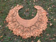 Golden Autumn shawl