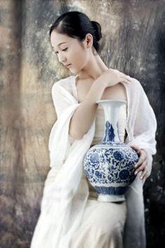 chinese beautiful women oil painting