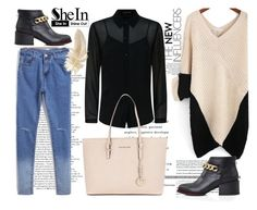 """SheIn 1"" by nerma10 ❤ liked on Polyvore featuring Jaeger, Michael Kors and Sheinside"