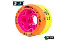 Reckless Morph Dual Durometer Derby Wheels-88a/91a Orange/yellow