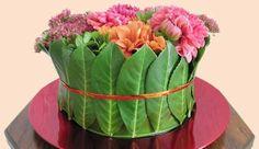 Een bloementaart met herfstbloemen - zelf een bloementaart maken