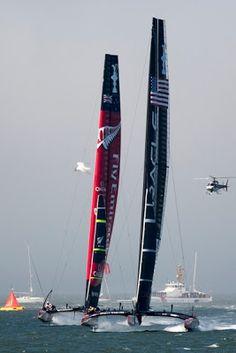 ScanVoile: America's Cup / La bagarre continue à San Francisco, Oracle remporte son premier match ! (images)
