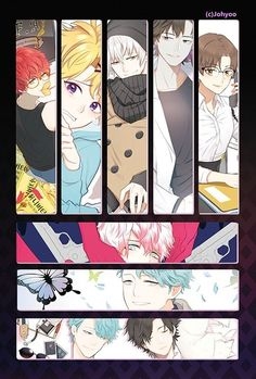 Everyone being pretty and then there's seven. Mystic Messenger Jumin, Manga Anime, Anime Art, Messenger Games, Fangirl, Jumin Han, Saeran, Kawaii Anime, Geek Stuff