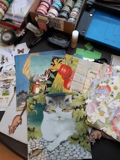 Fasters korthus: cat and mice envelopes