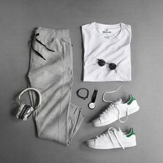 Casual whites and grays