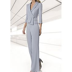 Mother Of Bride Outfits, Mother Of The Bride Gown, Mother Of Groom Dresses, Bride Dresses, Dressy Pants, Elegant Dresses, Plus Size Dresses, Dresses Online, Marie