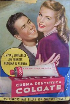 DENTÍFRICOS Pub Vintage, Vintage Labels, Vintage Cards, Vintage Signs, Vintage Images, Vintage Advertising Posters, Old Advertisements, Pin Up, Old Commercials