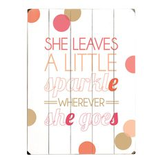 Awe! I would love this for a baby girls nursery!