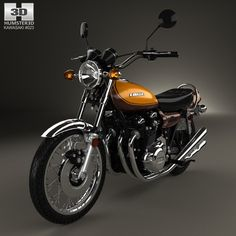 Kawasaki 900 Z1 Super Four 1973 3d model from humster3d.com. Price: $75