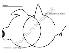 FREE Venn-Diagram for Three Little Pigs and Three Little Wolves from Rodriguez Resources on TeachersNotebook.com -  (1 page)  - Venn-Diagram for Three Little Pigs and Three Little Wolves