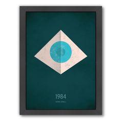 Americanflat Christian Jackson Design '1984 George Orwell' Framed Art Print