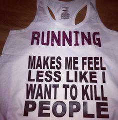 Running So I Don't Kill People Tank Top by RunBandz on Etsy, $20.00