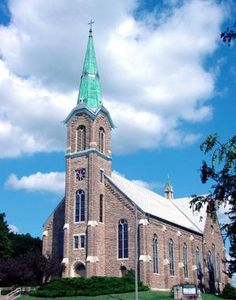 One of the 8 wonders of Kansas Art, St. Mary's Church, in St. Benedict, Kansas is a beautiful place and special to many people. Catholic Churches, Old Churches, Kansas Usa, Abandoned Churches, Brick And Stone, Iglesias, Place Of Worship, Kirchen, Temples