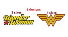 Wonder Woman 2 filled embroidery patterns by MountainEmbDesigns