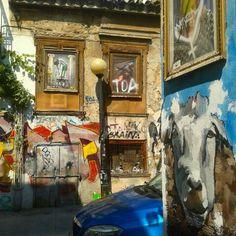 Arty Psiri neighborhood The Neighbourhood, Spaces, Painting, Art, Art Background, The Neighborhood, Painting Art, Kunst, Paintings