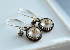 Victorian inspired vintage Swarovski earrings