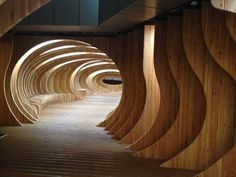 Whale-Shaped Halls - The Interior of 'Rest Hall' Looks Like the Inside of a Whale's Belly (GALLERY)