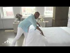 Steven Whitehead, premier bed-stylist and soft-goods expert shows us how to make the perfect - Sweet Dreams!