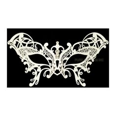 2aac7d6fd406 Guilded Butterfly Venetian Mask (White) ($20) ❤ liked on Polyvore featuring  masks
